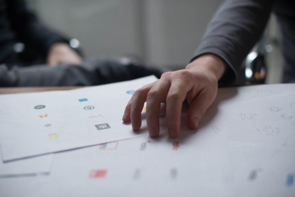 logos on paper