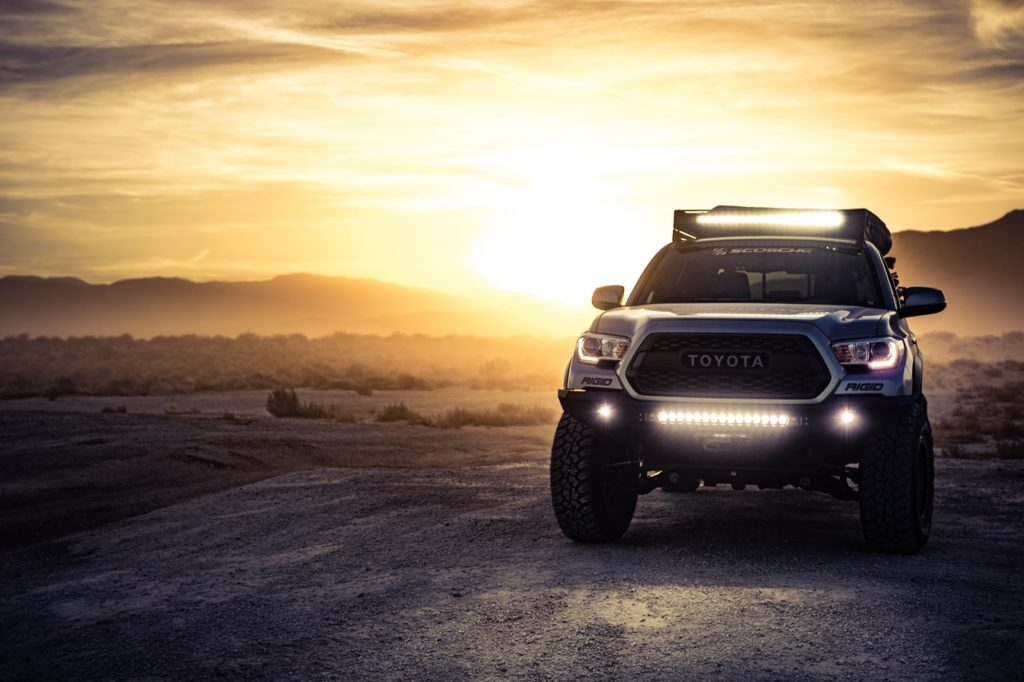 toyota pickup truck with LED lights